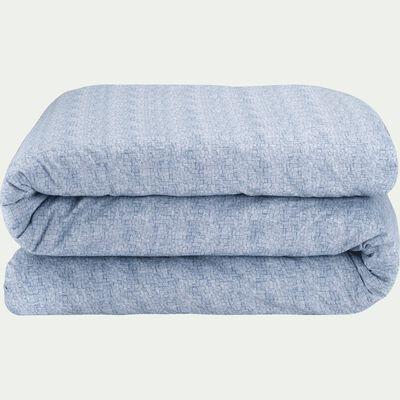 Housse de couette en coton peigné - bleu figuerolles 260x240cm-CANIS