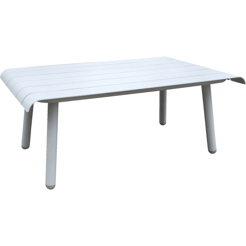 PARADOU - Table basse de jardin blanche en aluminium