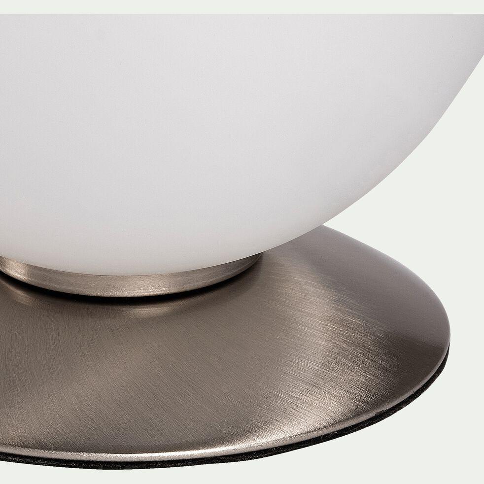 Lampe à poser boule en verre D15cm - pied argenté-BUBBA