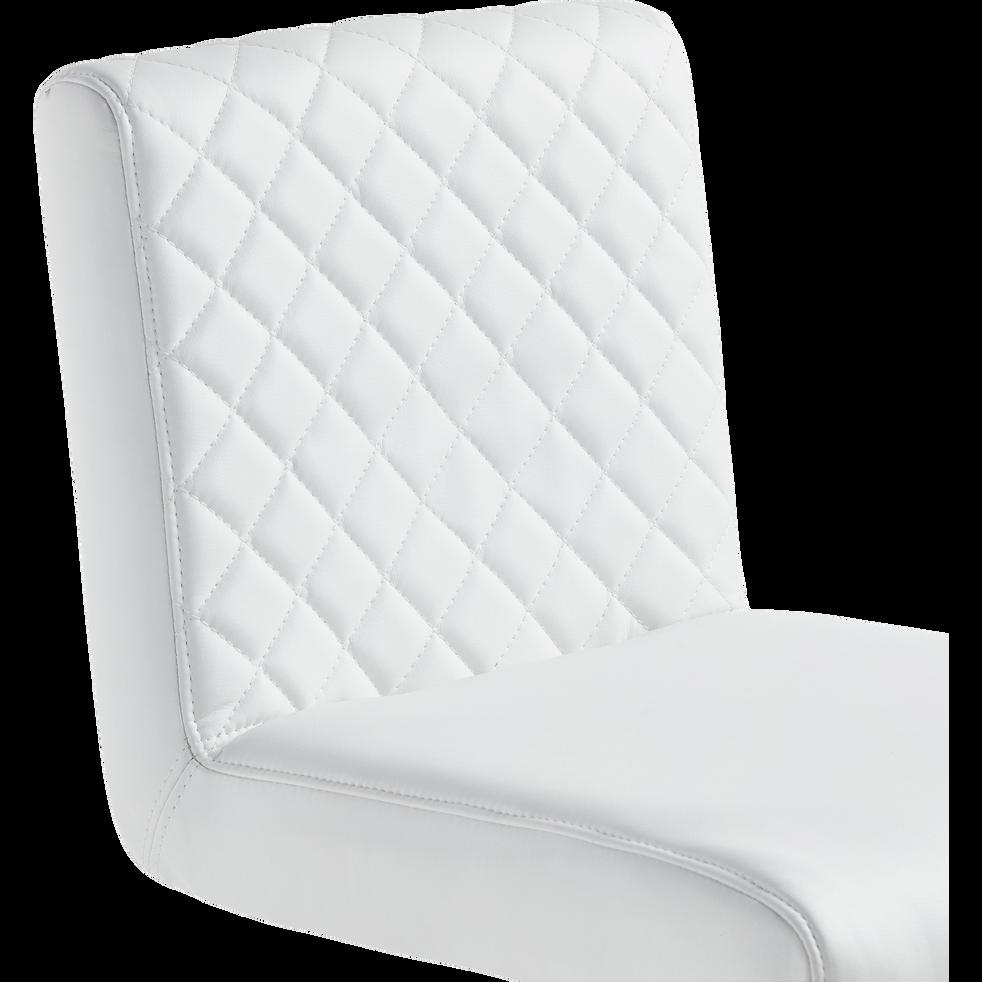 Tabouret de bar réglable blanc-HUGO