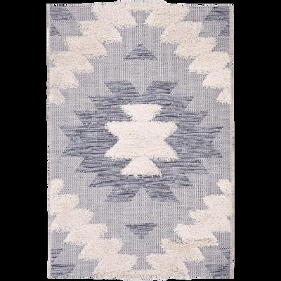 Tapis rectangulaire motifs et jeu de matières 160x230 cm-MADDIE