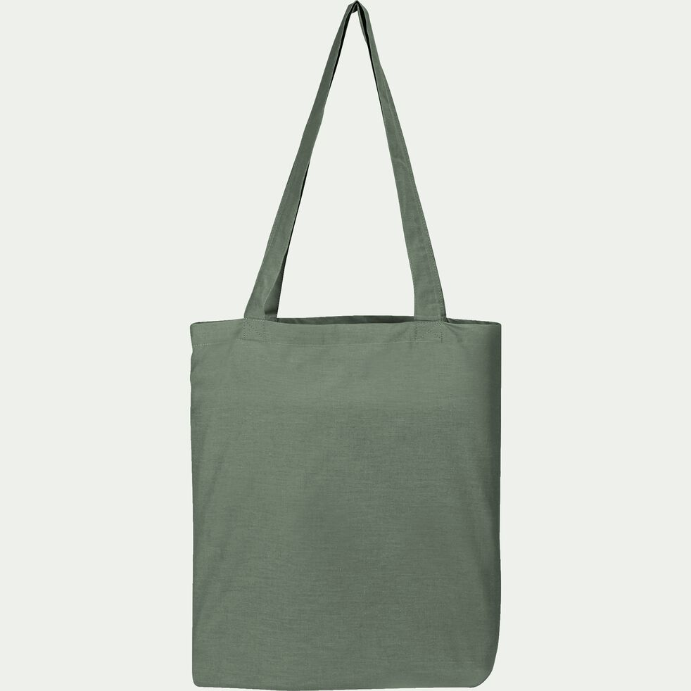 Housse de couette en coton - vert cèdre 260x240cm-CALANQUES