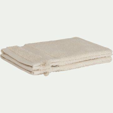 Lot de 2 gants de toilette en coton peigné - beige roucas-AZUR