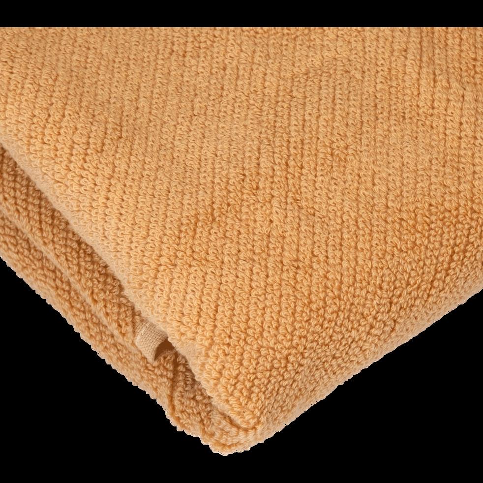 Drap de douche marron camel 70x130cm-COLINE