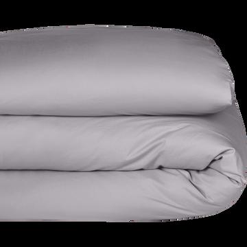 Housse de couette en coton gris restanque 240x220cm-CALANQUES