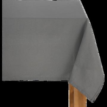 Nappe en coton gris borie 145x300cm-VENASQUE