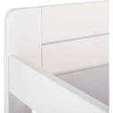 lit 1 place évolutif blanc nougat en pin  3 positions pour enfant-LILOU