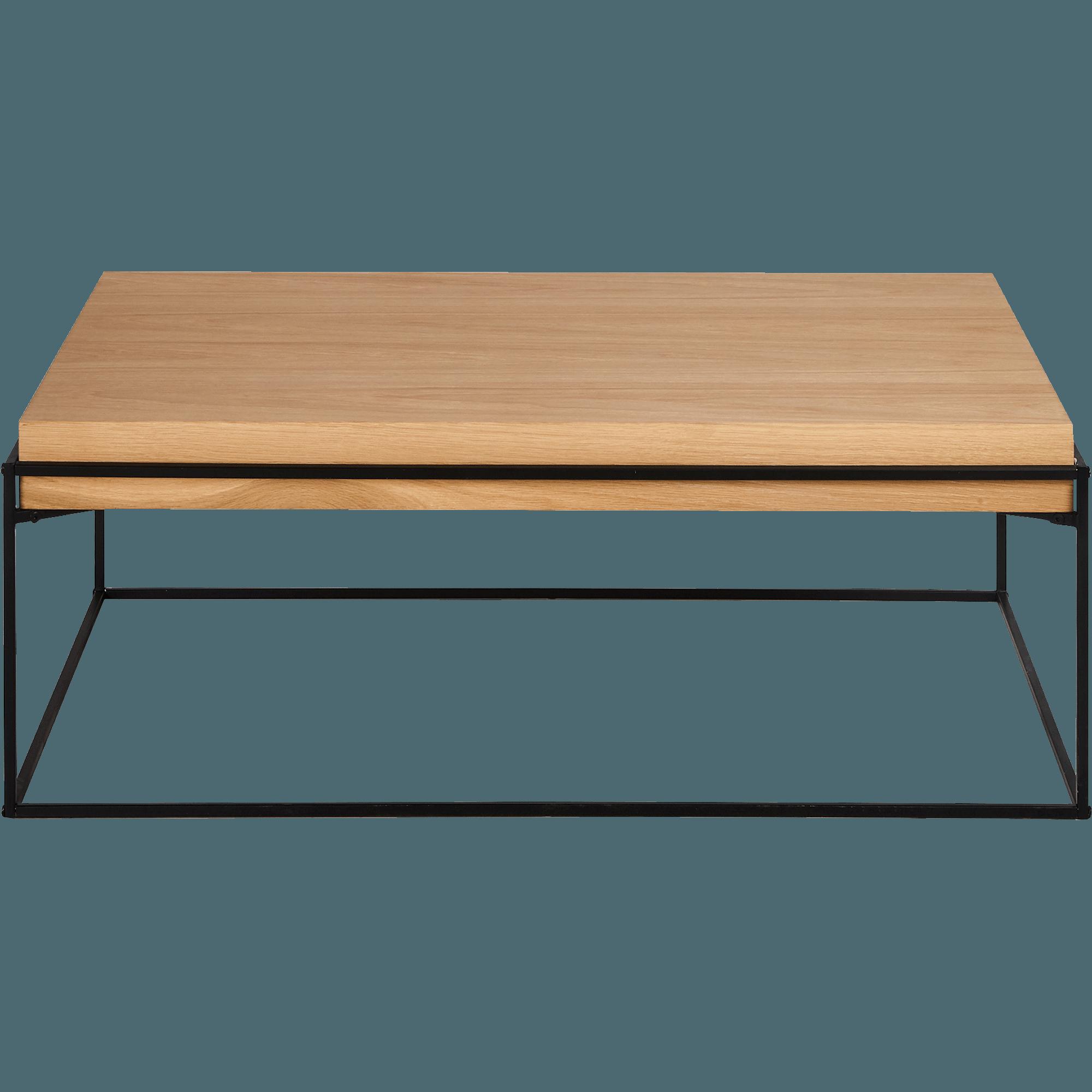 Table Basse Rectangulaire En Acier Et Placage Chêne CESARINE