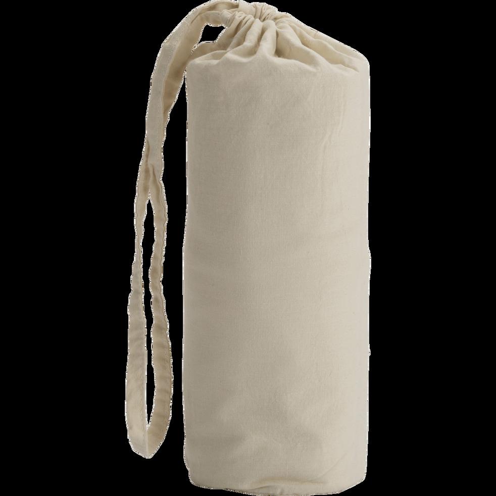 Drap housse en coton lavé beige roucas 90x140 cm-CALANQUES