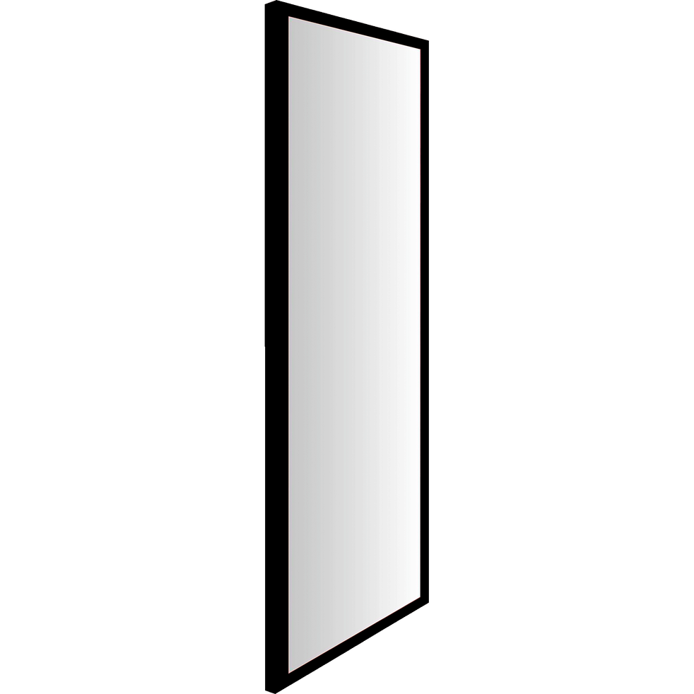 Miroir noir 30x120cm-HAPA