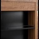Bar effet chêne et ardoise - L95cm-PROSPER