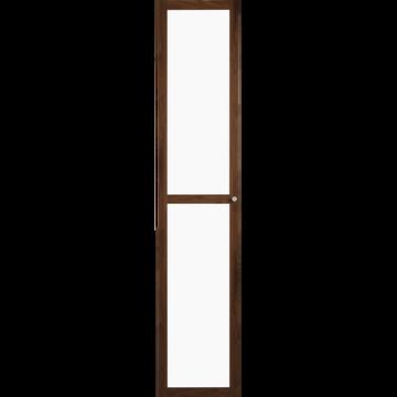 Grande porte vitrée coloris noyer-BIALA