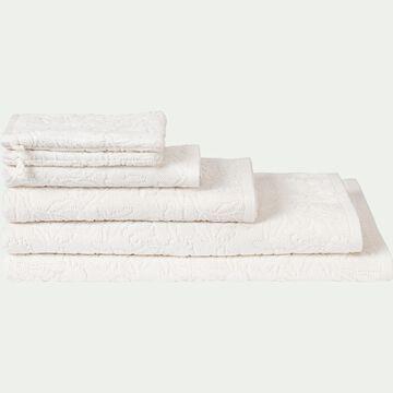 Linge de toilette blanc nougat à motif-DANGWA
