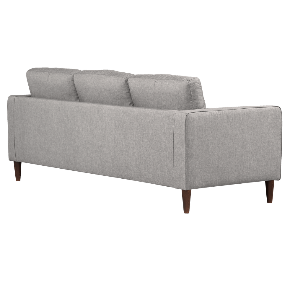 canap 3 places fixe en tissu gris borie romeo canap s en tissu alinea. Black Bedroom Furniture Sets. Home Design Ideas