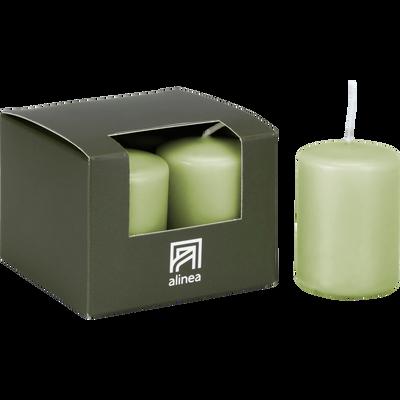 4 bougies votives vert garrigue-HALBA