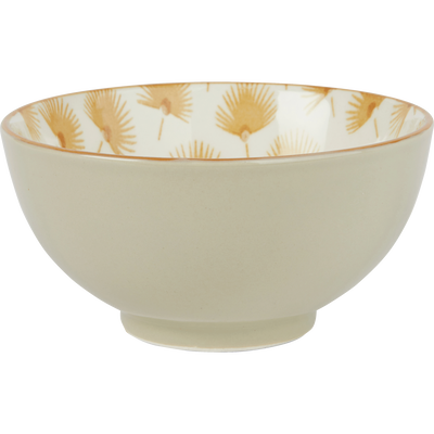 Coupelle en porcelaine beige décorée D11.5cm-MIDES