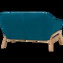 Canapé 2 places fixe en tissu bleu-VIK