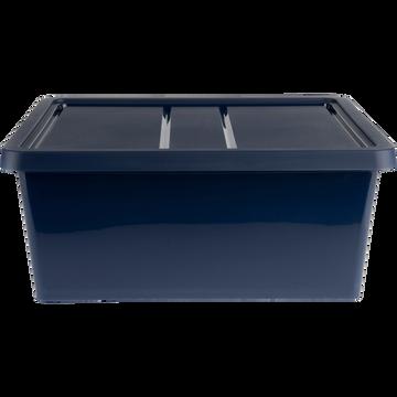 Boîte de rangement en plastique bleu H16,8xP34xl40 cm-ANDATI