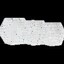 Étagère murale en fer blanche-HEXA