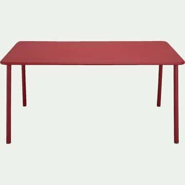 Table de jardin en aluminium - rouge sumac (6 places)-VITOR