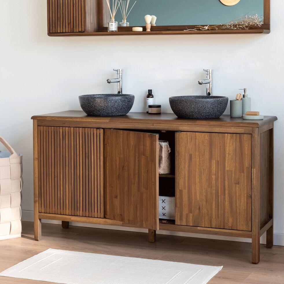 Meuble Sous Vasque Cabinet 3 Portes En Acacia Louvans 150 Cm Meuble Sous Vasque Alinea