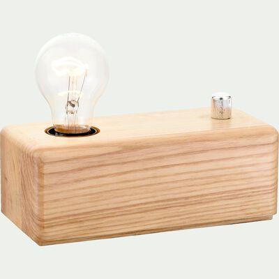 Lampe à poser en bois intensité variable H7cm-CARINA
