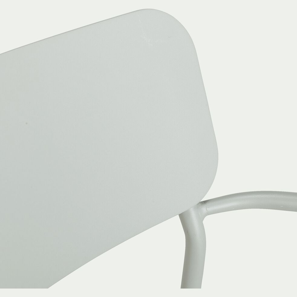Chaise de jardin en aluminium avec accoudoirs vert olivier-Matias