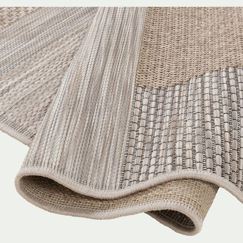 Tapis à motifs rectangulaires - marron 160x230cm-CAPUCINE