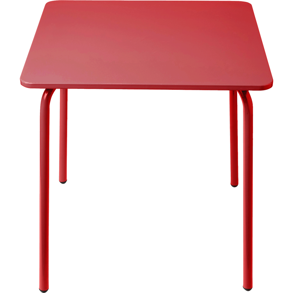 table de jardin pour enfant rouge cotia tables et. Black Bedroom Furniture Sets. Home Design Ideas