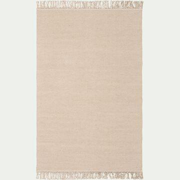 Tapis en laine - beige roucas 100x150cm-ULISSE