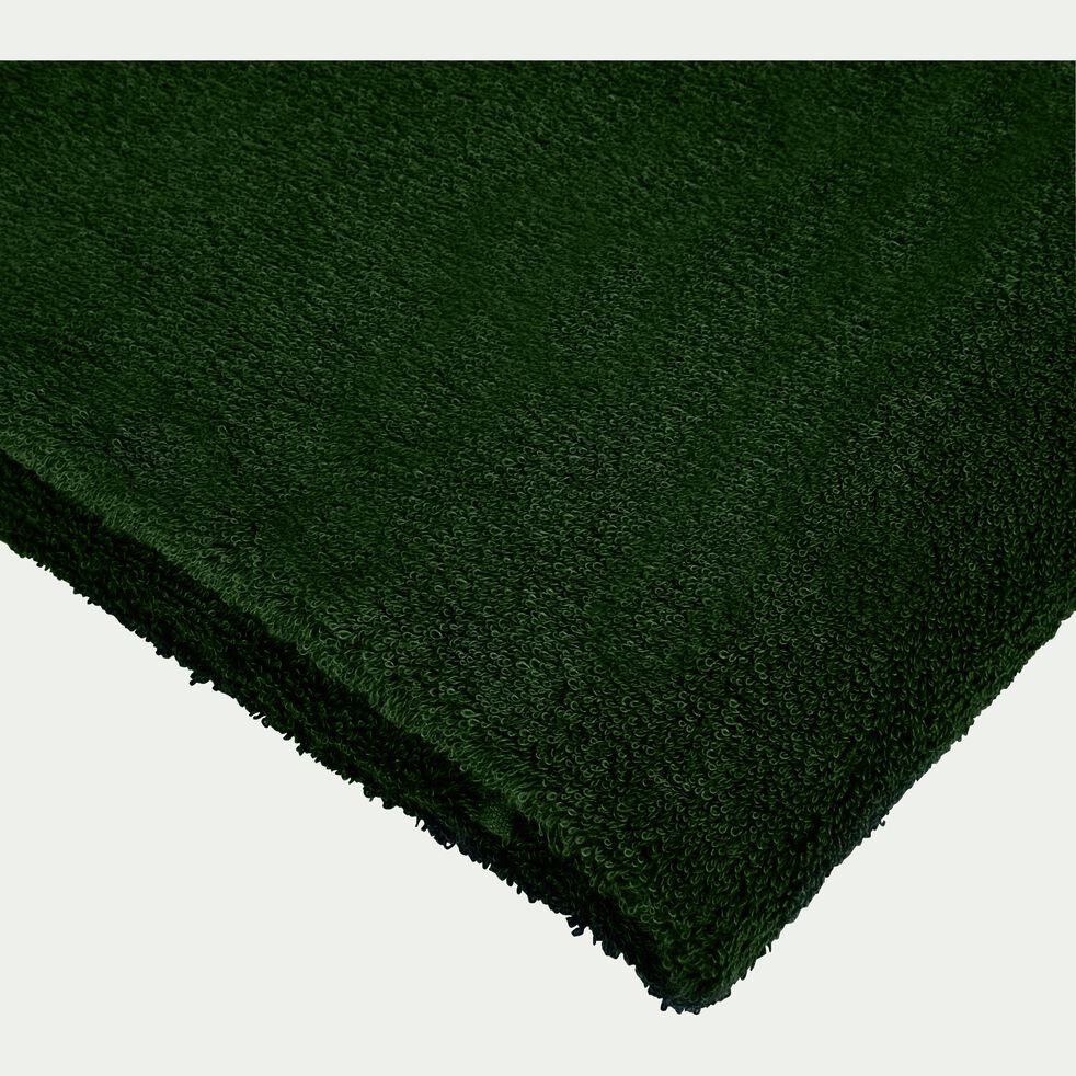 Drap de douche bouclette en coton égyptien - vert cèdre 70x140cm-ARROS