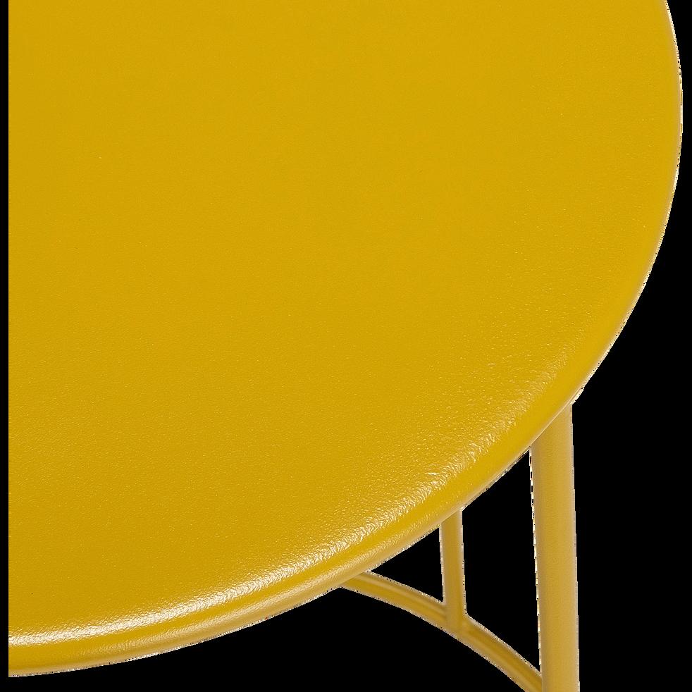 Table d'appoint de jardin - jaune argan (D34cmxH63cm)-Ikaria