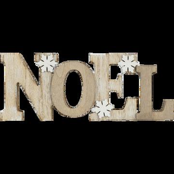 Décoration Noël à poser en bois L22cm-ELZEAR