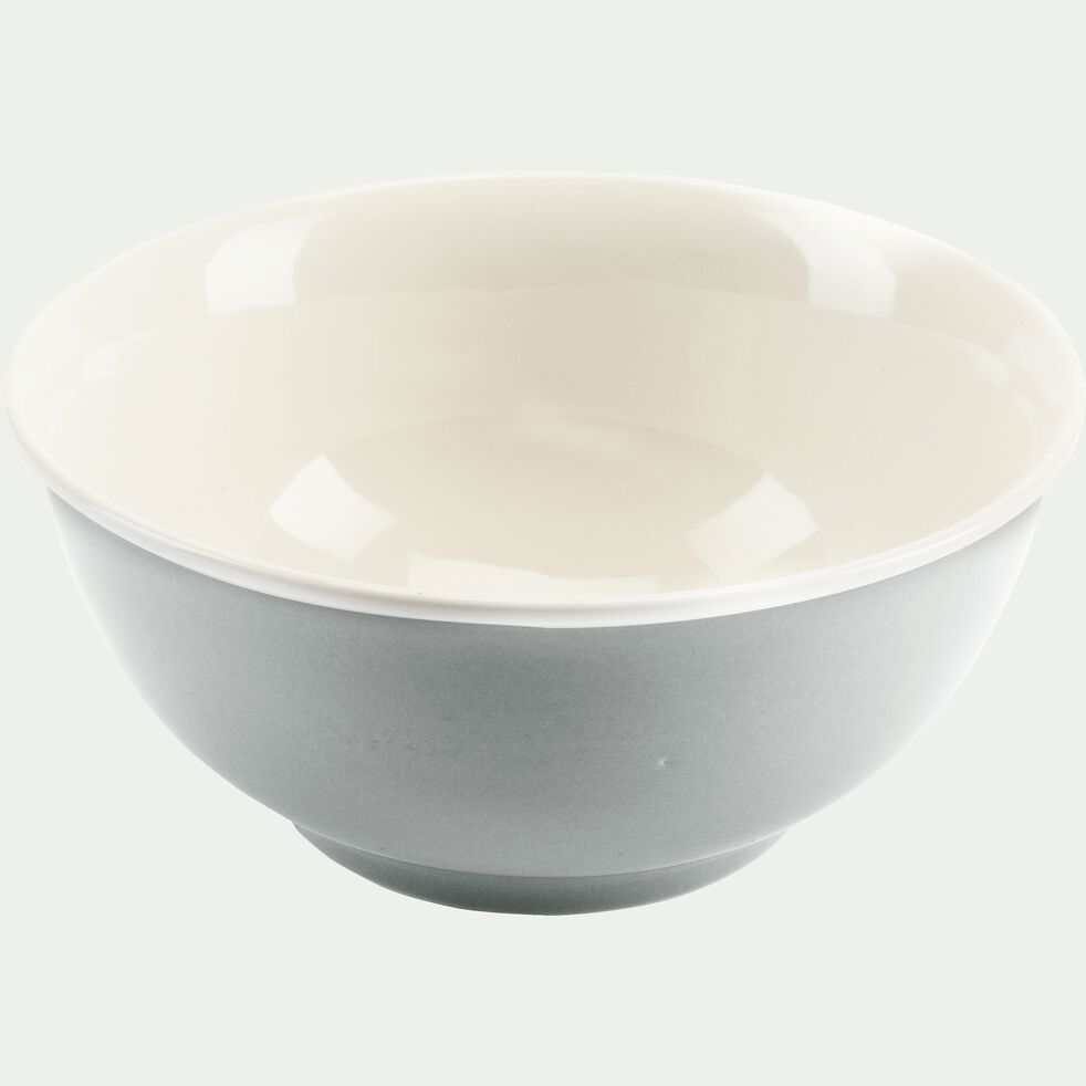 Bol en porcelaine gris borie D14,4cm-CAFI