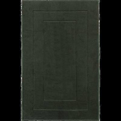 Maxi tapis  en coton 60x110 cm vert cedre-AZUR