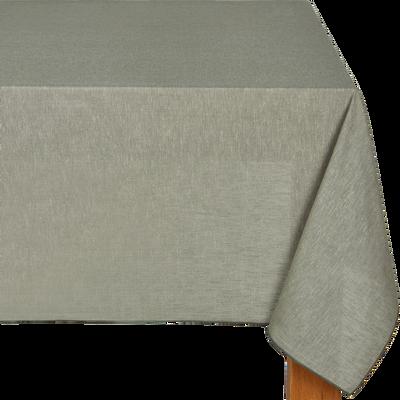 Nappe en lin et coton vert olivier 170x250cm-NOLA