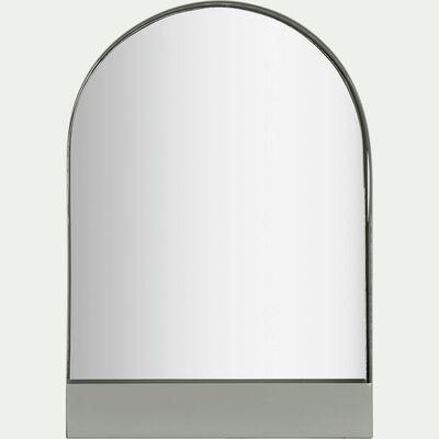 Miroir décoratif en métal gris restanque-GYALY
