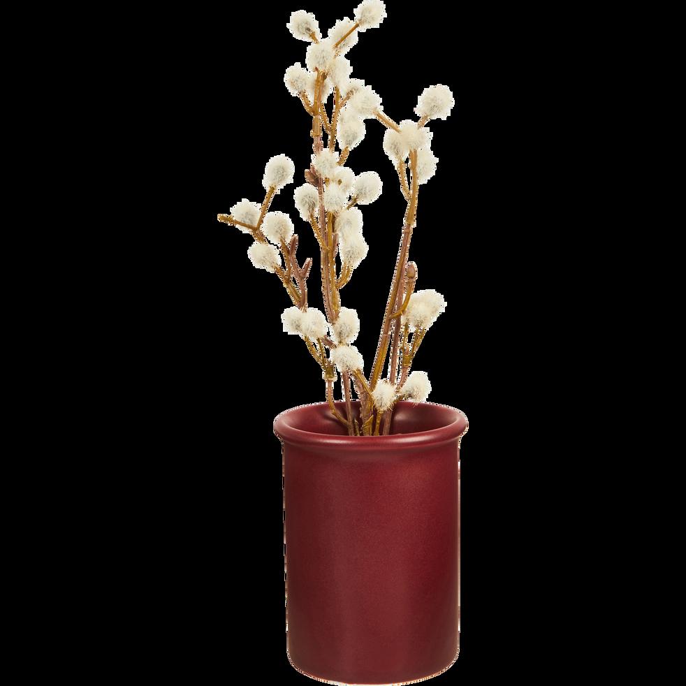 Vase en céramique rouge D8xH10cm-BRINA