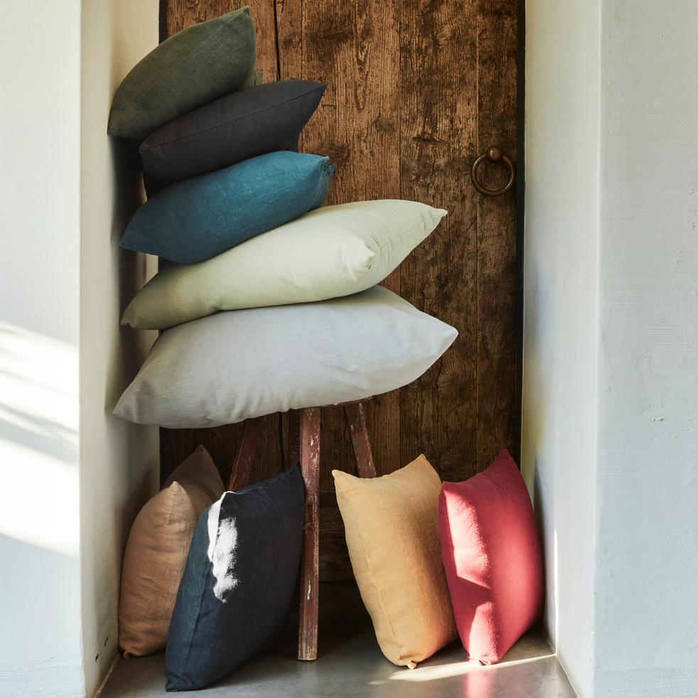 Coussin en coton gris calabrun 40x60cm-CALANQUES
