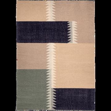Tapis en laine taupe 160x230cm-ADEL