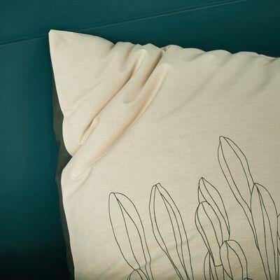 Lot de 2 taies d'oreillers en coton imprimé Agapanthe - carré 63x63 cm-ASTI