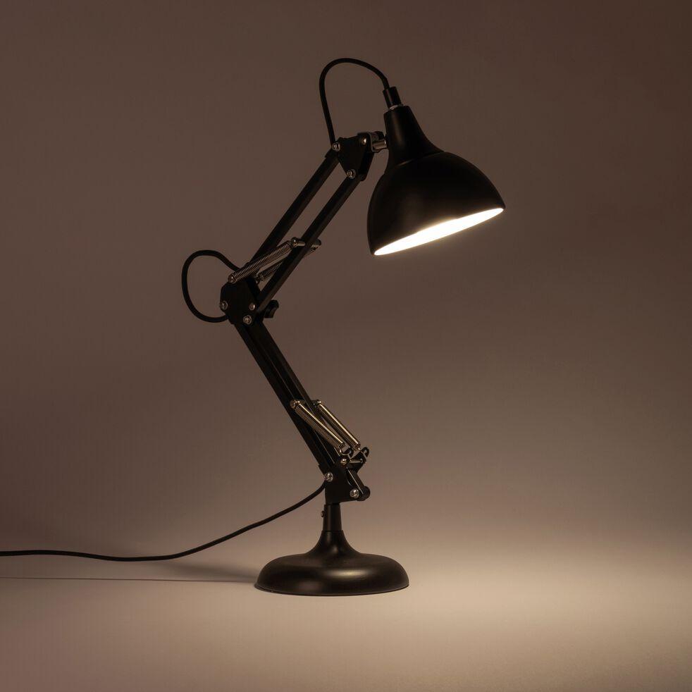 Lampe en métal noir H65x12cm-XXL