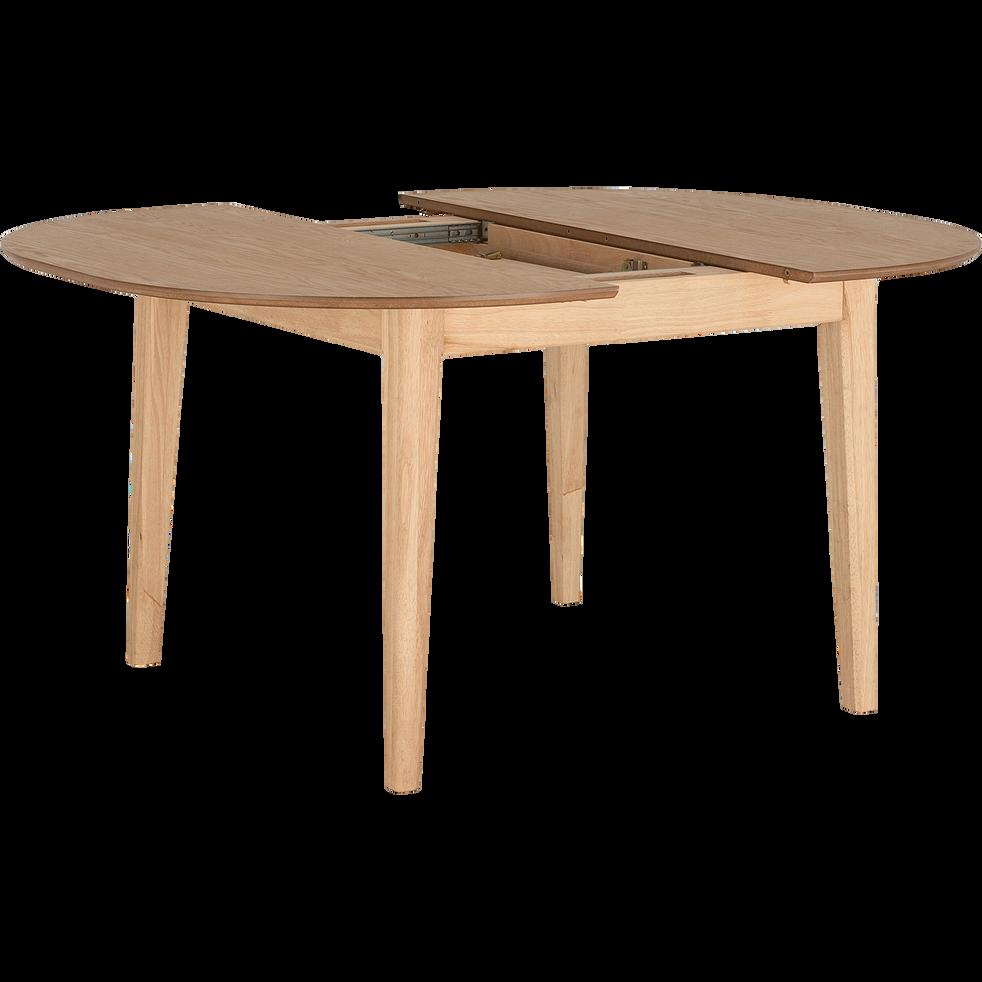 table de repas extensible plaquée chêne  4 à 6 places