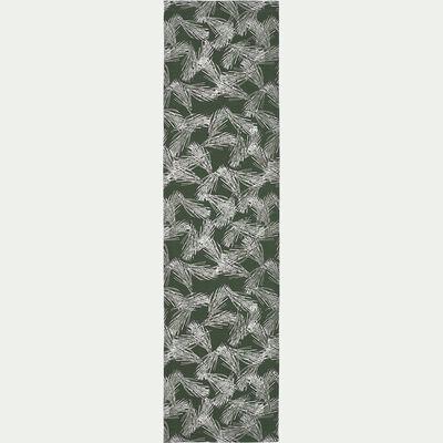Toile de chilienne de jardin à motif pin d'Alep - vert cèdre-Udine