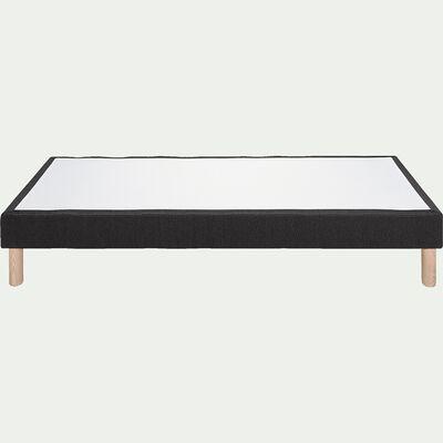 Sommier tapissier H25cm - 90x200cm gris anthracite-SORMIOU