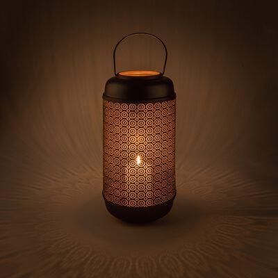 Lanterne noire en métal H28cm-BINAN