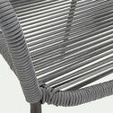 Chaise de jardin avec accoudoirs - gris restanque-Jadida