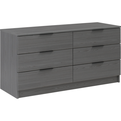 Commode 2x3 tiroirs Gris anthracite-BROOKLYN