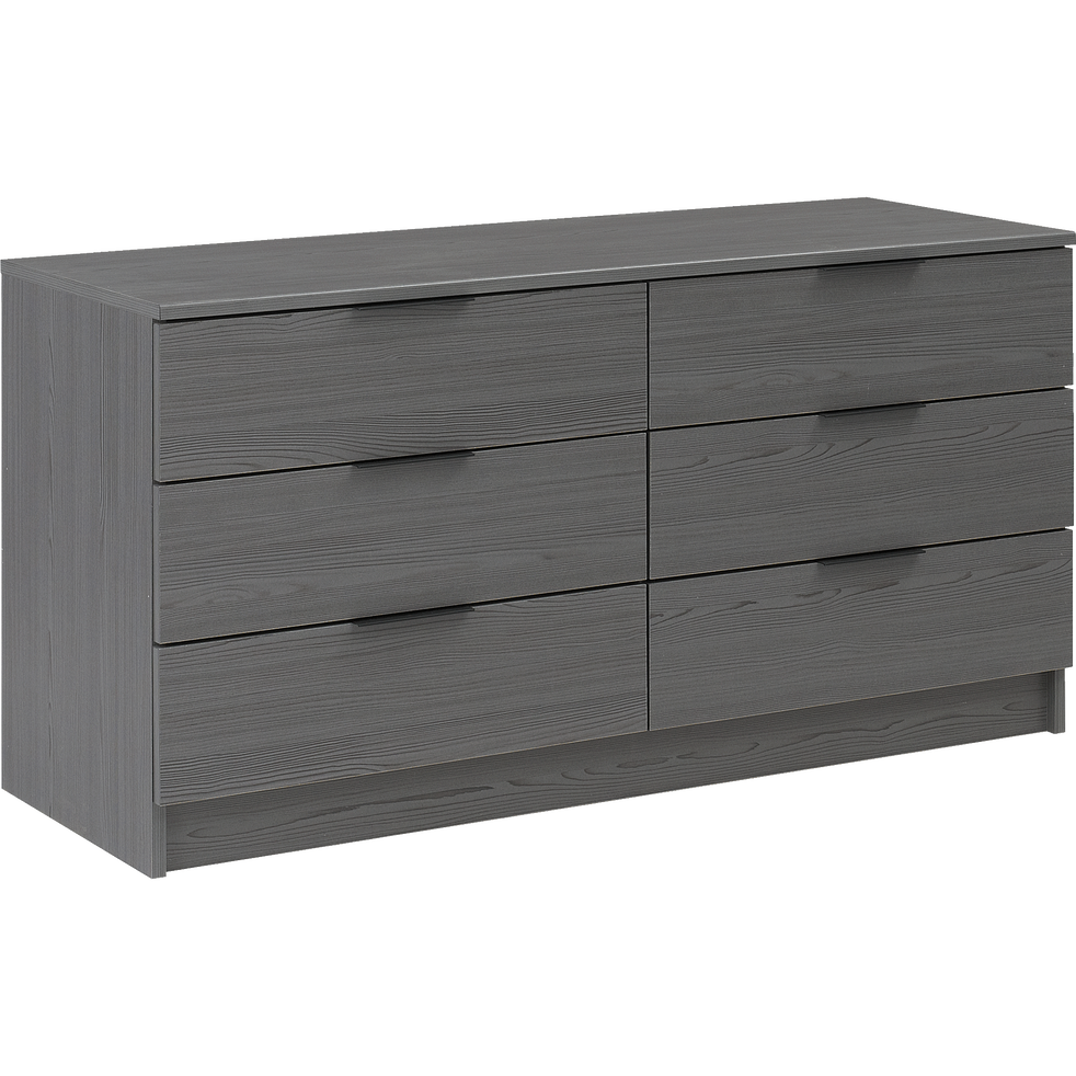 commode 6 tiroirs gris anthracite brooklyn commodes alinea. Black Bedroom Furniture Sets. Home Design Ideas