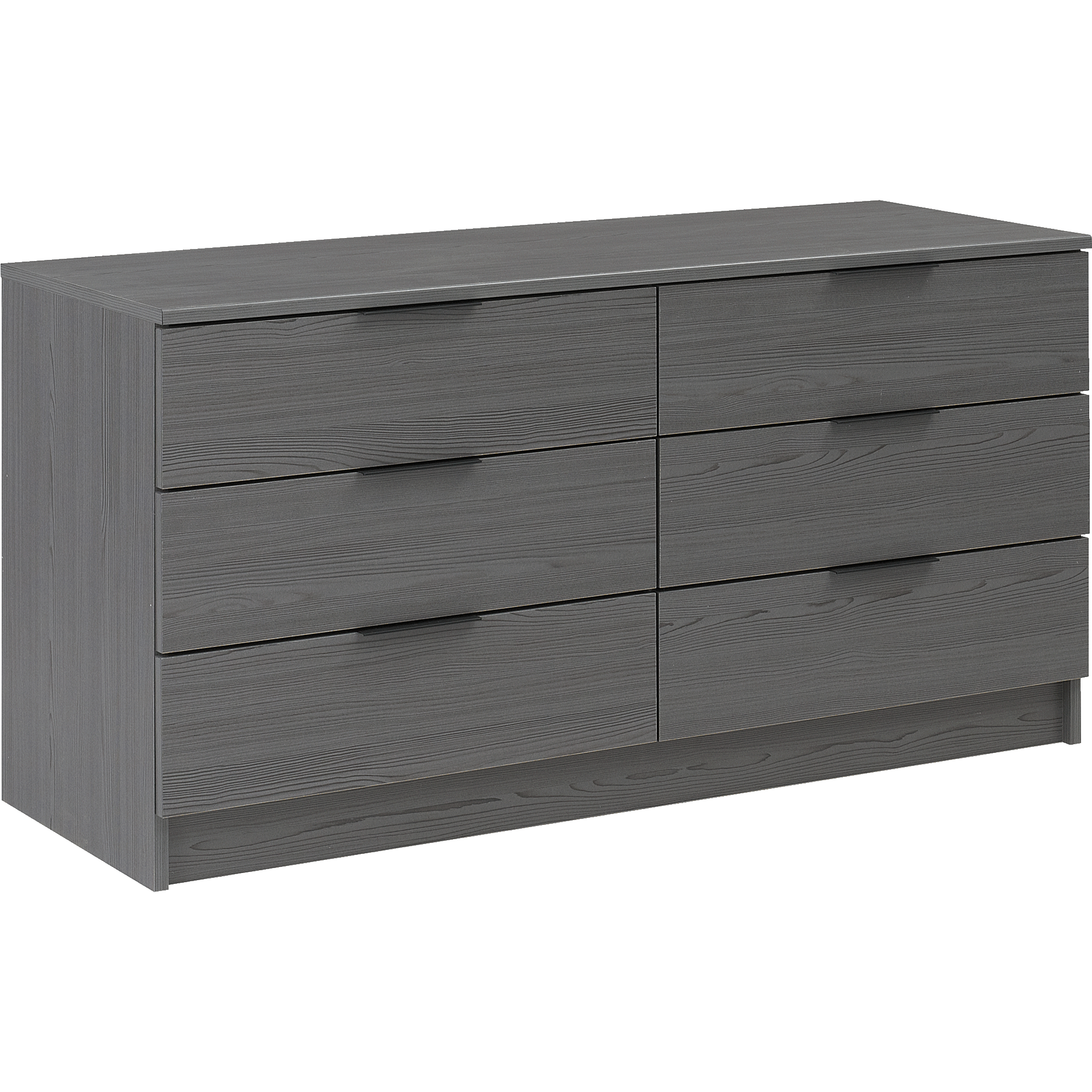 Commode 2x3 Tiroirs Gris Anthracite BROOKLYN
